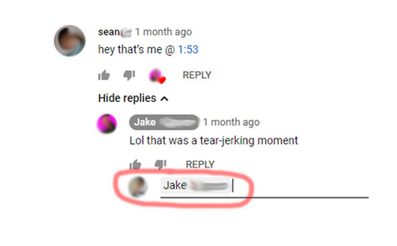Mention People In Youtube Comments